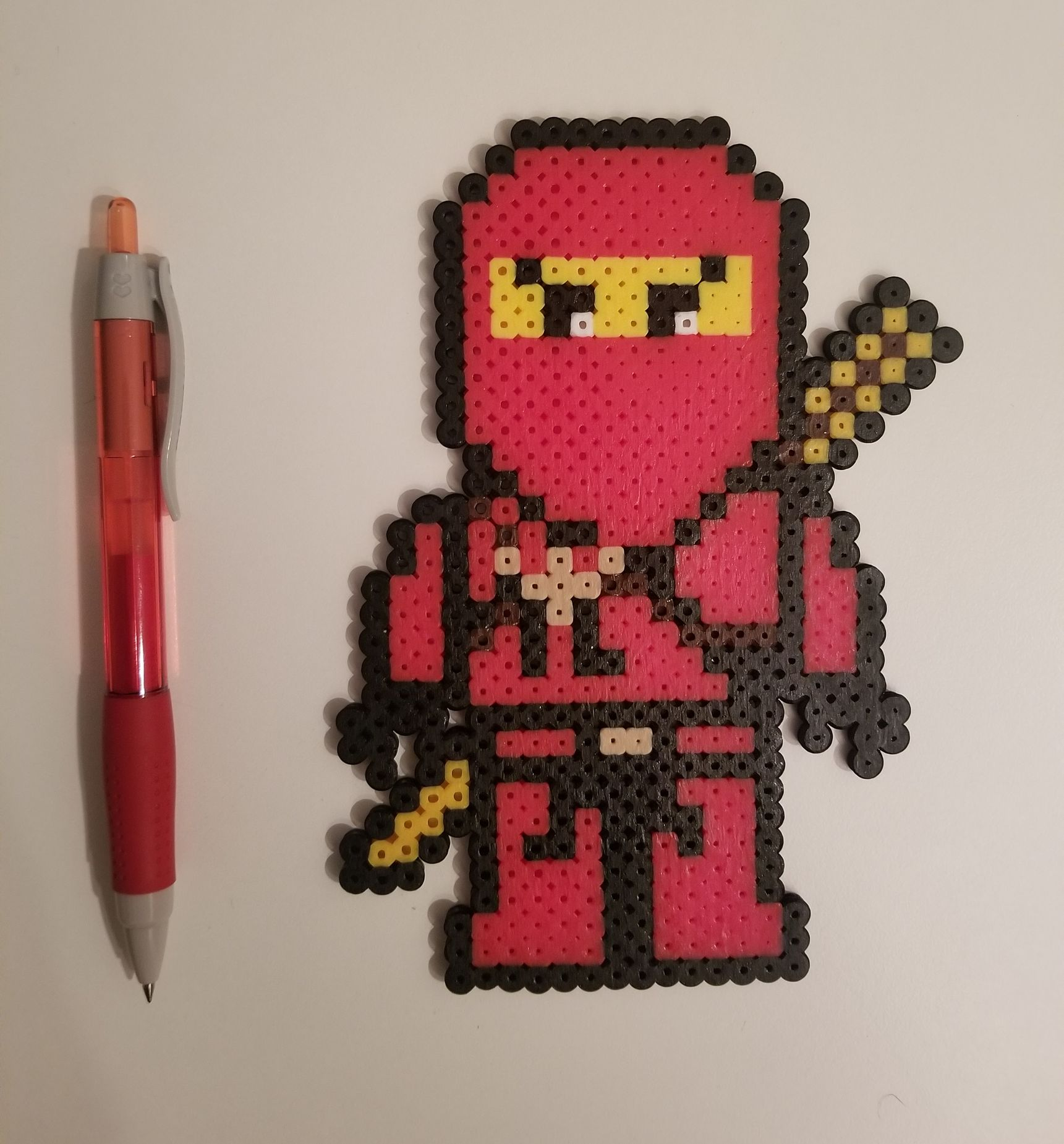 The Lego Ninjago Movie Kai Pixel Art And Perler Bead Sprites