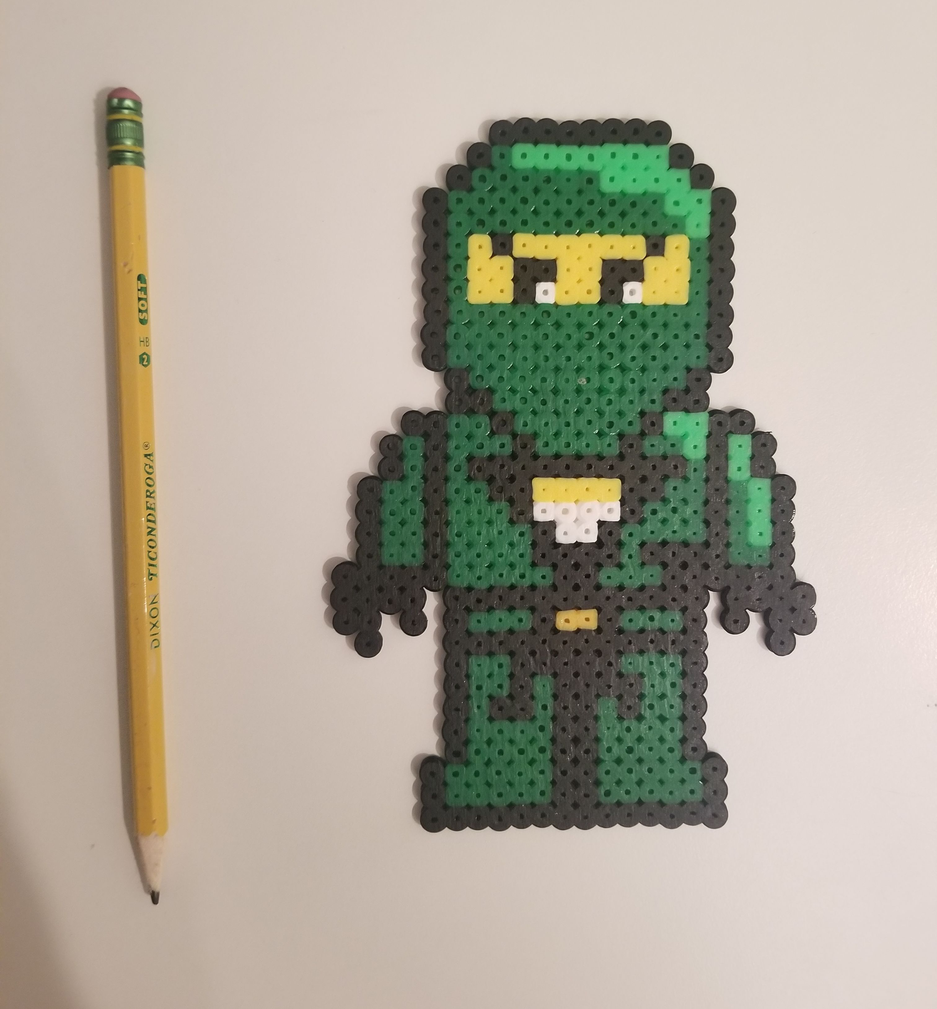 The Lego Ninjago Movie Lloyd Pixel Art And Perler Bead